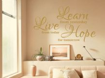 "Vinyl Wall Quote ""Learn Live Hope..."" Wall Art Sticker, Modern Transfer"